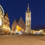Old historic center of city of Ghent Stock Images