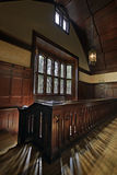 Old Historic Chapel Hallway. With Woodwork Architectural Detail Stock Photography