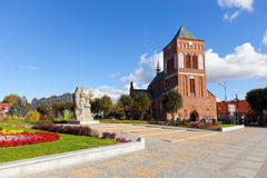 Old historic church in Swidwin Royalty Free Stock Image