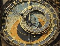 Old historic clock in Prague Stock Image