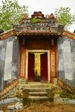 Doorway in Hoi An. An old historic doorway is the only part of this building still standing in the UNESCO listed central Vietnamese town of Hoi An Royalty Free Stock Image