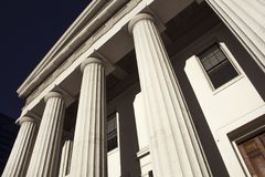 Old Historic Federal Style Architecture Building Round Columns royalty free stock image