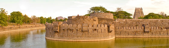 An old historic fort. An ancient fort located in the South Indian City of Vellore, which was built around 500 years old Royalty Free Stock Photo