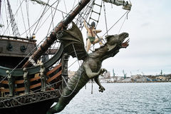 Old historic Galeon. Stock Photos