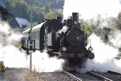 Old historic german steam train Royalty Free Stock Photos