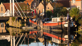 Old historic harbor of Enkhuizen Holland Royalty Free Stock Photo