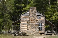 Old Historic Home. John Oliver Place in Cades Cove Stock Images