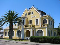 Old historic house in Swakopmund royalty free stock photography