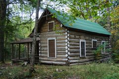 An old, historic log house Stock Image