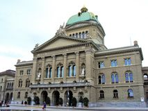 An old historic palace in the center of the city of Bern stock photo