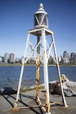 Old historic pier light at vanier park Royalty Free Stock Photos