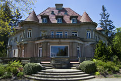 Old Historic Pittock Mansion Stock Photo