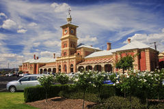 The old historic railway station in Albury Royalty Free Stock Images