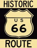 Old historic Route 66 sign. Stock Images