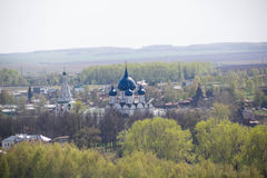 The old historic Russian town of Suzdal - the Golden Ring tourist places top view Royalty Free Stock Photos