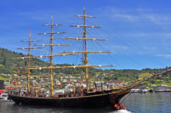Old, historic sailing boat in Norheimsund, Norway Royalty Free Stock Image