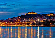 Old historic Sibenik night view Stock Image