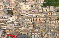 Old historic Sicilian town on a limestone hill Royalty Free Stock Photography