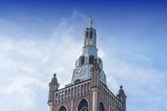 Old Historic Steeple with clock Royalty Free Stock Photo