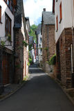 Old historic street in Ediger Germany. Looking up old historic street in Ediger by Mosel Germany Stock Image