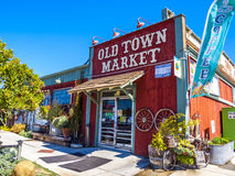 Old historic town market at the beach promenade Stock Image