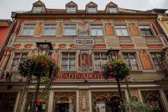 Stadt Apotheke in Füssen Bavaria. The old historic town pharmacy Stadt-Apotheke in the town of Füssen in Bavaria Germany Royalty Free Stock Photo