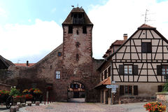 Old and historic village gate in Wangen, Alsace, France Royalty Free Stock Photo