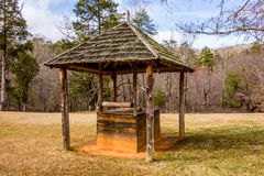 Old historic water well in the forest Royalty Free Stock Photography