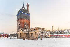 Old historic Watertower at the train Station in Wiesbaden Royalty Free Stock Photography