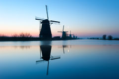 Old Historic Windmills in Kinderdijk, The Netherlands Stock Photo