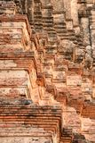 Old historical in Ayutthaya temple, Thailand. royalty free stock photography