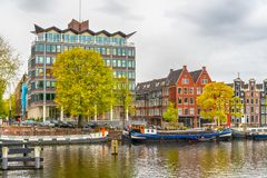 Old historical Amsterdam. Large view on the old historical Amsterdam Royalty Free Stock Images