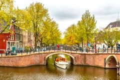 Old historical Amsterdam. Large view on the old historical Amsterdam Royalty Free Stock Image
