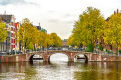 Old historical Amsterdam. Large view on the old historical Amsterdam Royalty Free Stock Photos