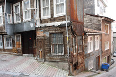 Old historical apartment house in Turkey Royalty Free Stock Photography
