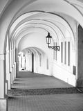 Old Historical Arcade In Loretanska Street Near Prague Castle, Prague, Czech Republic Royalty Free Stock Images
