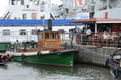 Old and historical boat in the port of Goteborg Royalty Free Stock Photography