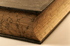 Old historical book. An old historical book with a gold abrasion stock photo