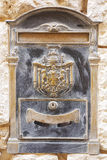 Old historical brass letterbox Royalty Free Stock Photos