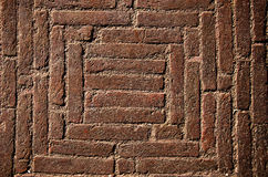 Old historical bricks floor background in India Royalty Free Stock Photos