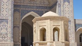 Ancient architecture of Central Asia and East. Old historical building with arch and dome. Ancient buildings of medieval Asia. Bukhara, Uzbekistan stock video