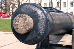 Old historical cannon closeup Royalty Free Stock Image