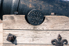 Old historical cannon closeup Stock Images