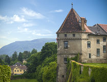 Old historical castle tower Stock Images