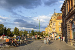 Old historical center, Brasov, Romania Royalty Free Stock Photos