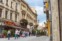 Old historical center Lipscani Royalty Free Stock Photos
