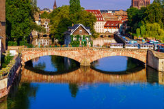 Old historical center of Strasbourg. Fortress towers and briges Stock Images