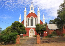 Old historical church in garden setting in rural Australia Royalty Free Stock Photo