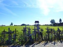 Cross in Cross hill near Siauliai town, Lithuania Royalty Free Stock Photos