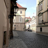 Old, historical and empty street royalty free stock photos